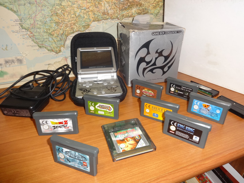 Gameboy Advance Sp Limited Tribal Edition Bateria Funda 9